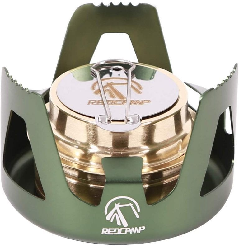 Lightweight Brass Spirit Burner Mini Alcohol Stove with Stand (Green)