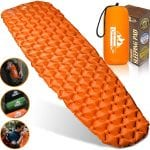 ultralight inflatable sleeping mat orange