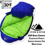 Goose Down Lightweight Sleeping Bag +30 deg blue
