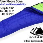 Goose Down Lightweight Sleeping Bag +30 deg Long