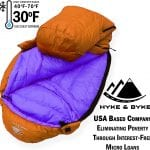 Goose Down Lightweight Sleeping Bag +30 deg clay regular