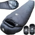 Lightweight Motorcycle Camping Sleeping Bag grey