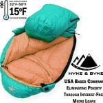 Hyke & Byke Goose Down Sleeping Bag +15 deg F Limit turquoise