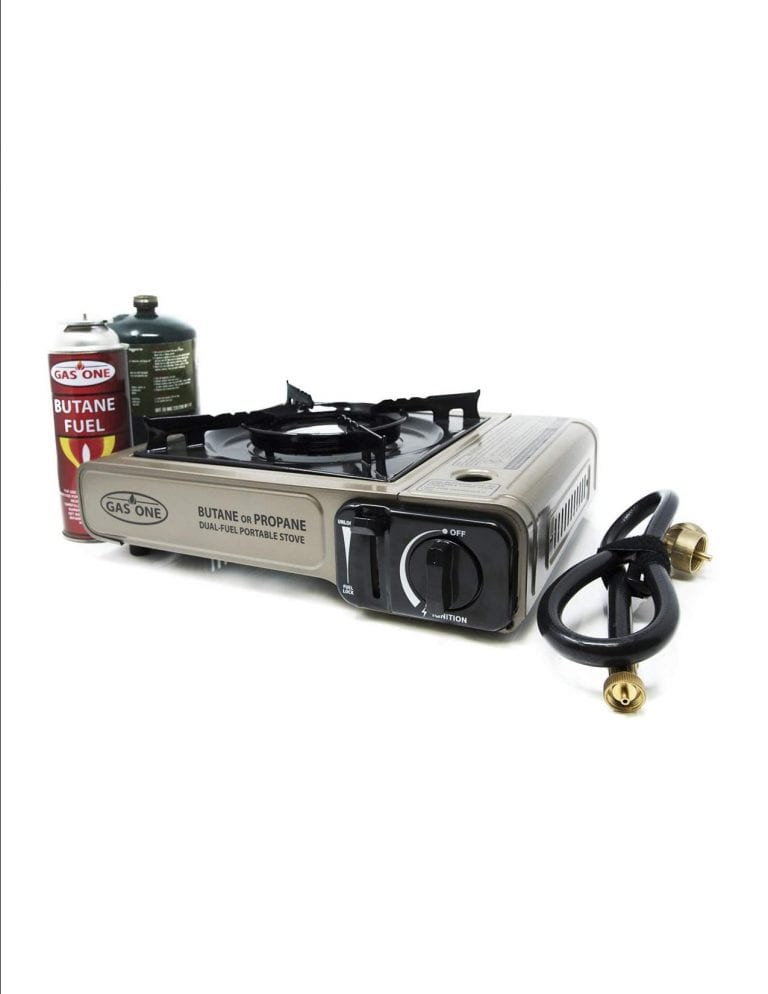 Gas ONE Dual Fuel Camping Stove - Portable Motorcycle Camping Stove