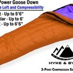 Hyke & Byke Goose Down Sleeping Bag +15 deg F