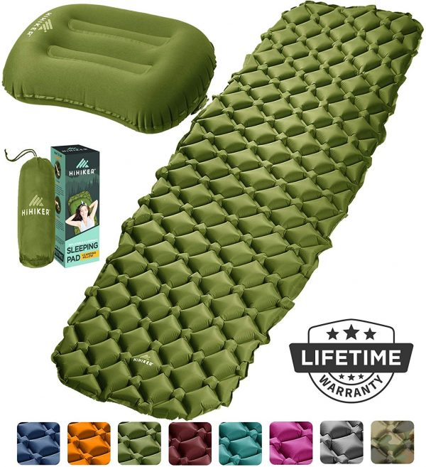 Inflatable Sleeping Pad w Pillow