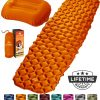 Inflatable Sleeping Pad w Pillow orange