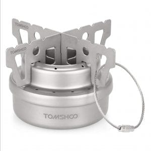 Lightweight Portable Alcohol Burner - Titanium Camping Stove