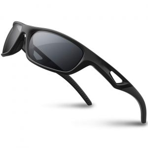 RIVBOS Unbreakable Frame Motorcycle Sunglasses Polarized - Black