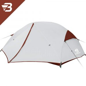 Bessport 3 Person Motorcycle Camping Tent Burgandy 6