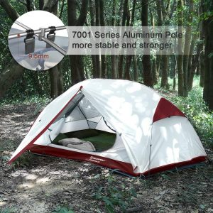 Bessport 3 Person Motorcycle Camping Tent Burgandy 2