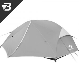 Bessport 3 Person Motorcycle Camping Tent Grey 4