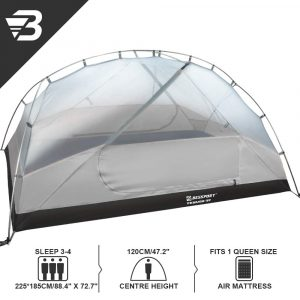Bessport 3 Person Motorcycle Camping Tent Grey 3