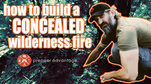 how to build a concealed wilderness fire