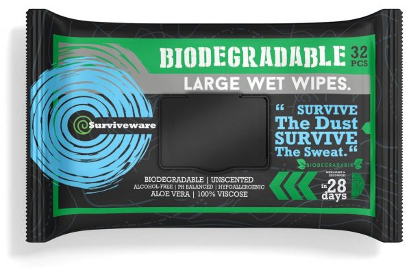 Surviveware Biodegradable Wet Wipes Large Pack