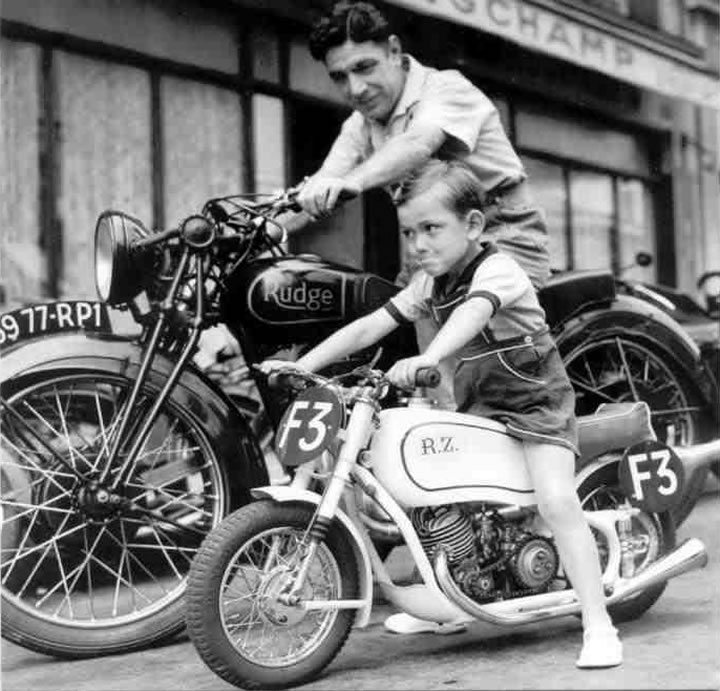 Father-and-Son-on-Vintage-Motorcycles